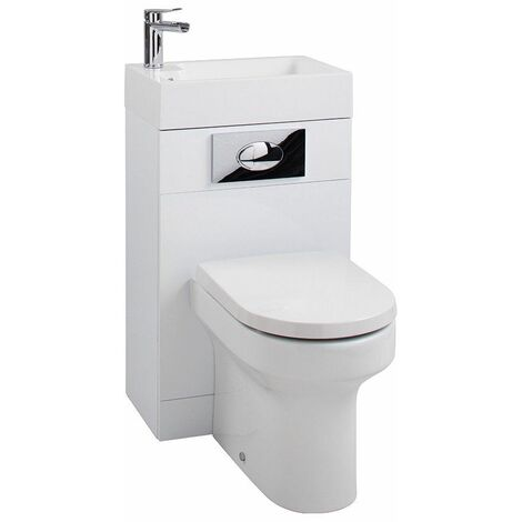 Cassellie White Gloss Back to Wall BTW Unit Toilet WC Basin 500 x 305mm Bathroom