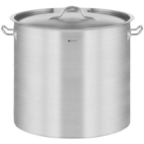 Casserole à induction 21 litres acier inoxydable