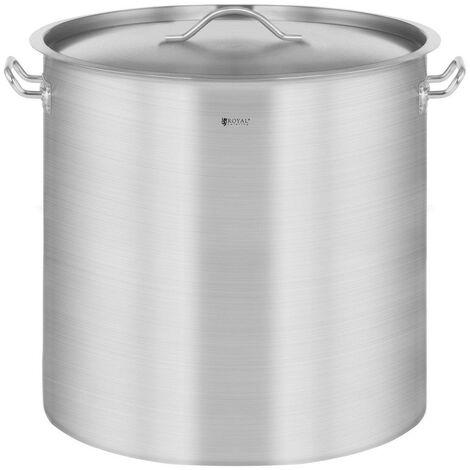 Casserole à induction 36 litres acier inoxydable