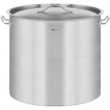 Casserole à induction 50 litres acier inoxydable