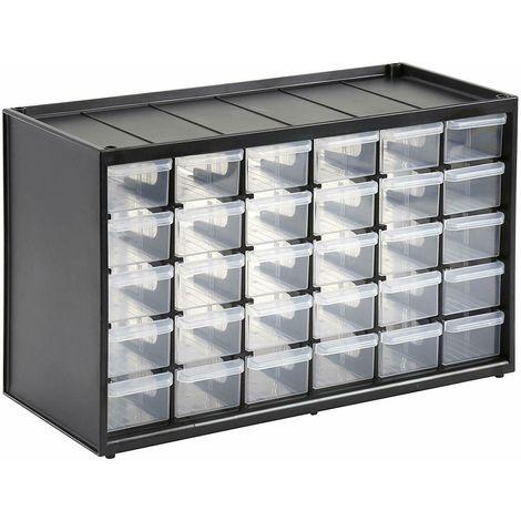 Cassettiere In Plastica Per Minuterie.Cassetta Cassettiera Porta Utensili In Plastica 30 Scomparti Vani Portaminuteria