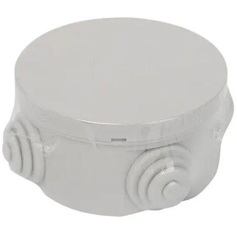 cassetta derivazione esterno pressacavo impianto elettrico 80x40mm CE IP44 grigio aig 190156