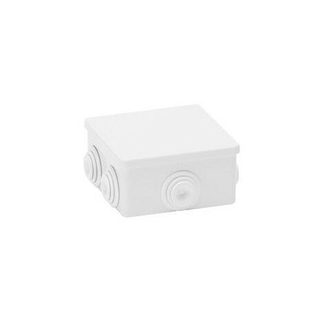 cassetta derivazione esterno pressacavo impianto elettrico 80x80x40mm CE IP44 grigio aig 189099