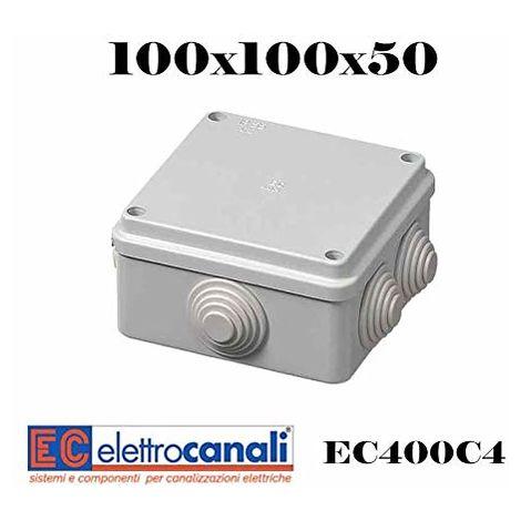 CASSETTA DERIVAZIONE IP55 100X100X50 - ELETTROCANALI SERIE CIVILI EC400C4