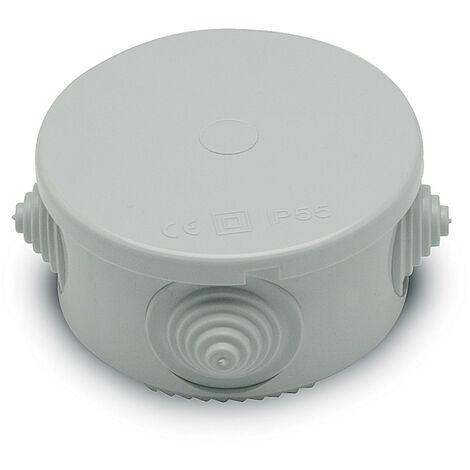 Cassetta di derivazione Master tonda grigia con passacavi IP65 M03001