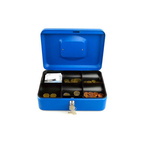 95f6ed1711 Cassetta di Sicurezza Cassaforte Con Chiave Con Vassoio Separatore Monete  Euro