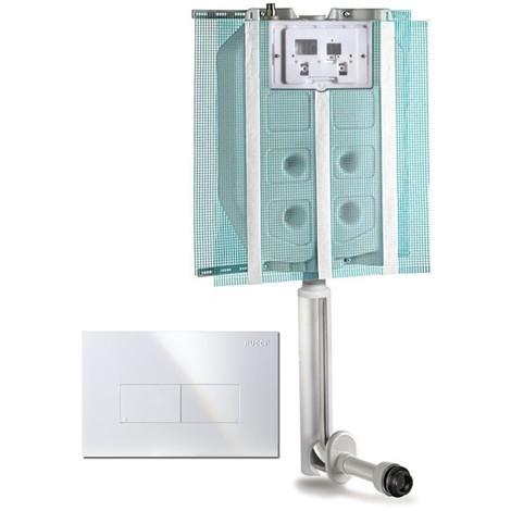 Cassetta incasso Pucci ECO con canotto di collegamento e Placca Bianca
