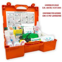 Cassetta Medica Kit Primo Pronto Soccorso Aziende Oltre 3 Lavoratori Gruppo A/B