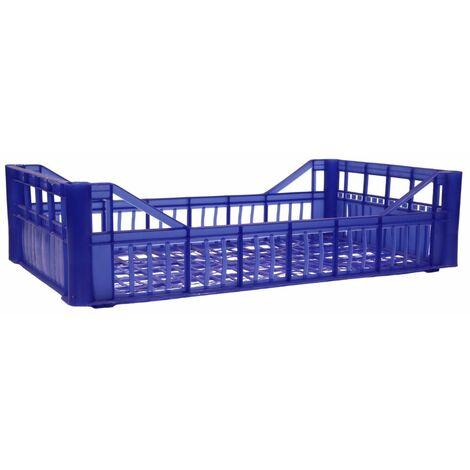 Cassetta multiuso per ortofrutta per agricoltura forata in plastica blu *** dimensioni 420 gr 30x40x20,5 cm - confezione 12