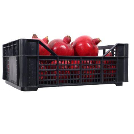 Cassetta multiuso per ortofrutta per agricoltura forata in plastica nera *** dimensioni 215 gr 30x40x8,5 cm - confezione 20