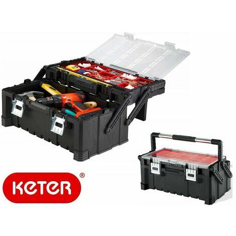 Cassetta organizer valigia valigetta porta attrezzi utensili keter cantilever 22