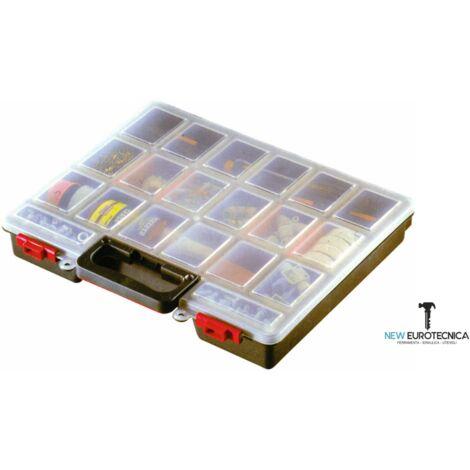 Cassetta portaminuteria 16 scomparti in plastica valigetta porta viti minuteria