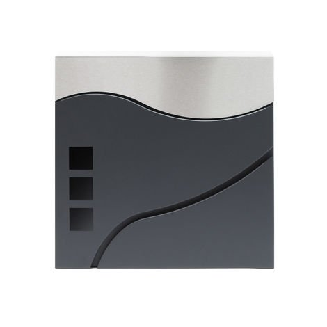 Decorazione da Parete Green antiruggine e Impermeabile Beaviety con Montaggio a Parete Cassetta Postale in Metallo per Interni ed Esterni