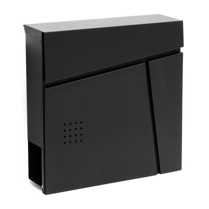 Cassetta postale di design V26 vano portagiornale montaggio a parete acciaio inox