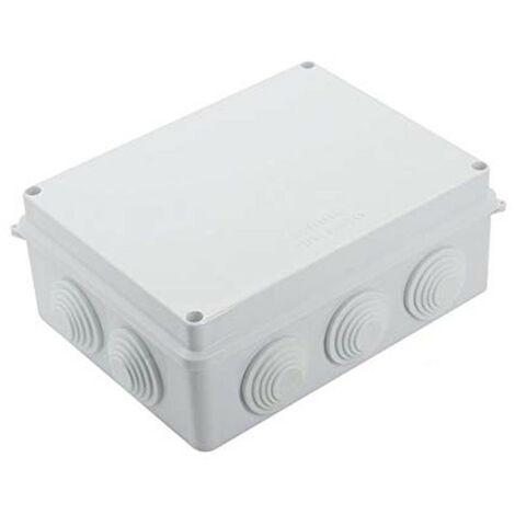 Cassetta scatola di derivazione da esterno preforata rettangolare 120 x 80 x 50 mm