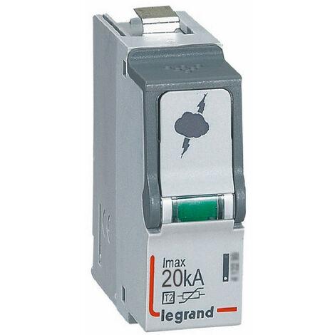 Cassette de remplacement pour parafoudre basse tension typeT2 Imax 20kA (412297)