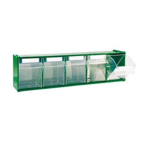 Cassetti In Plastica Componibili.Cassettiera Componibile Modulare In Plastica 5 Cassetti 60x14xh16 8 Cm Modello M