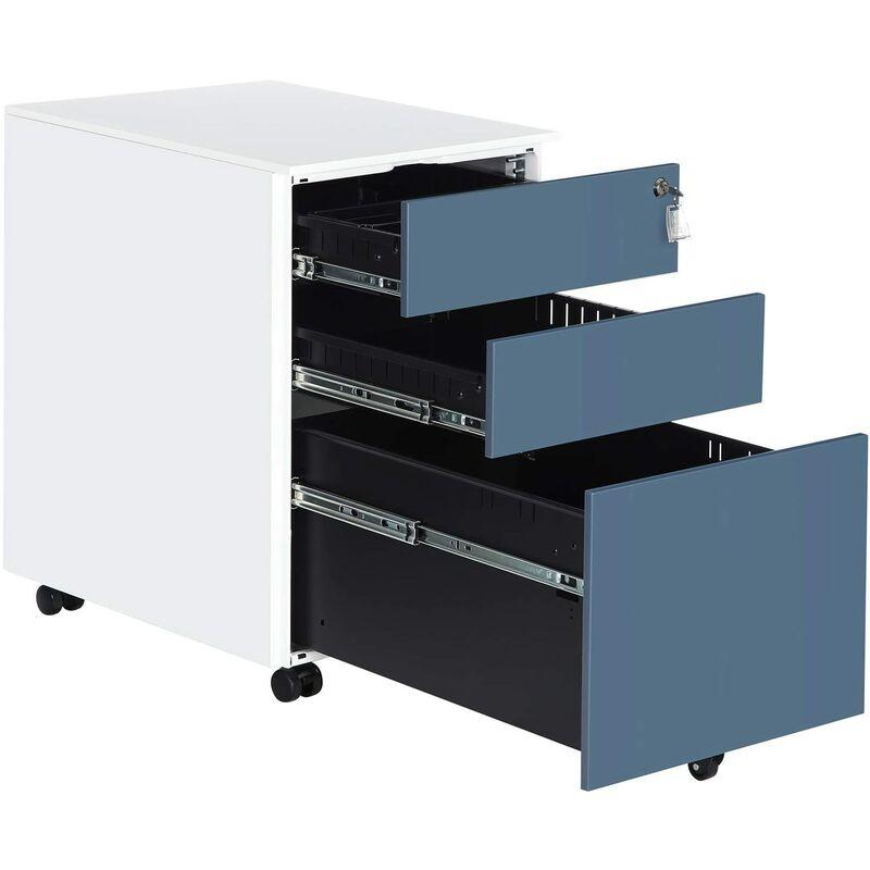 Cassettiere Da Ufficio Con Ruote.Cassettiera Da Ufficio Mobiletto Con Ruote Per Documenti E