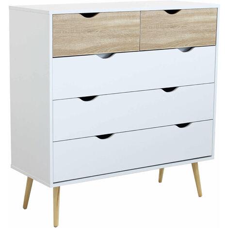 """main image of """"Cassettiera in legno di design stile moderno minimalista 4 cassetti, cm 99 x 39 x 101 h"""""""