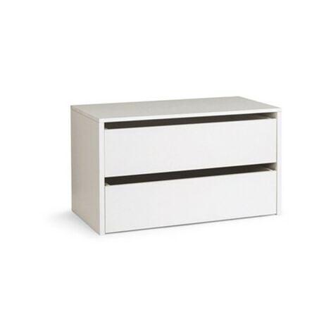 Cassettiera in legno per interno amadio colore Bianco cm H.50xL.86,5xP.45