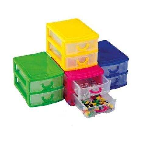 Cassettiere Per Ufficio Plastica.Cassettiera In Plastica Con 2 Cassetti Per Casa Ufficio Organizza