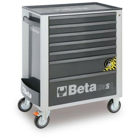 Cassettiera Mobile Con 7 Cassetti, Con Sistema Antiribaltamento Grigio - Beta C24SA/7-G