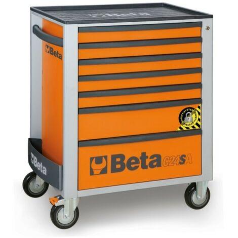 Cassettiera Mobile Con 7 Cassetti, Con Sistema Antiribaltamento Orange - Beta C24SA/7