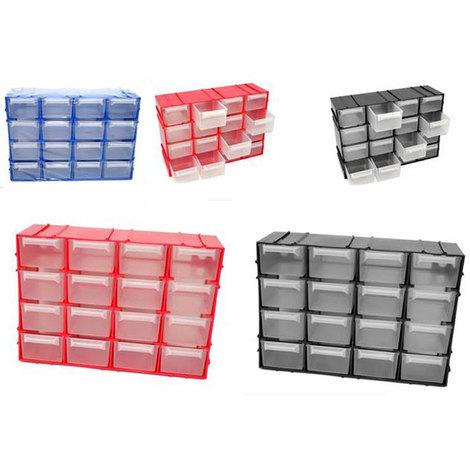 Cassettiere In Plastica Per Ufficio.Cassettiera Multiuso Plastica Organizer Porta Miniature Casa Ufficio 16 Cassetti