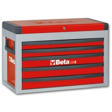 Cassettiera portatile con 5 cassetti Rosso Beta C23S-R