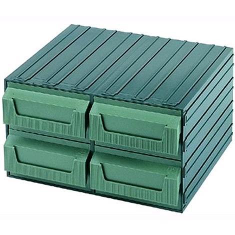 Cassetti In Plastica Componibili.Cassettiera Terry Componibile In Plastica Servoblock Verde 7 Z