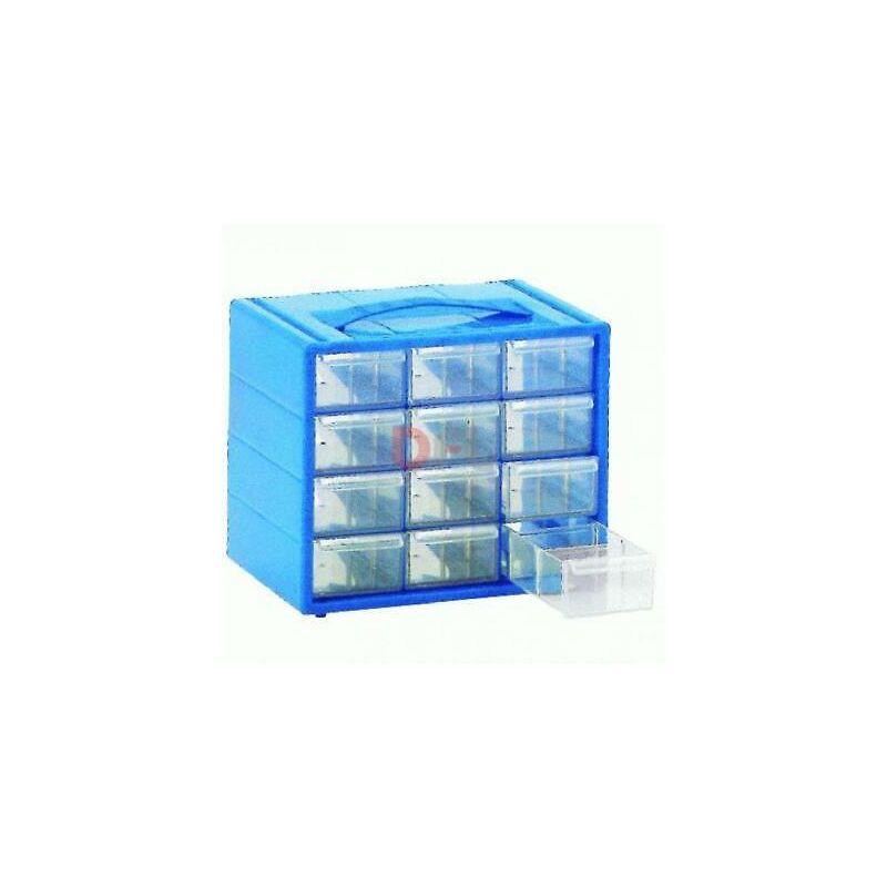 Lamura - Cassettiere cassettiera portaoggetti monoblocco espace cm 22x15x18 - 12 cassetti