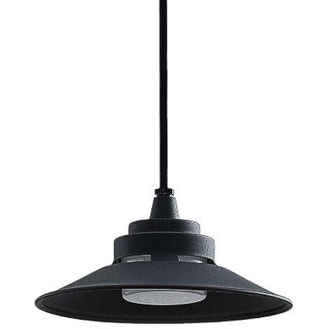 Cassia LED outdoor hanging light, dark grey