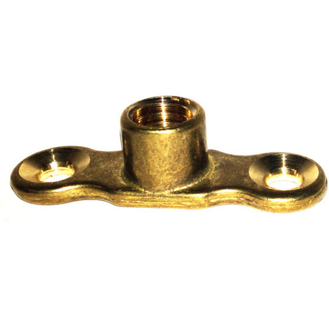 Cast Brass Back Plates for munsen ring - Female M10 Boss