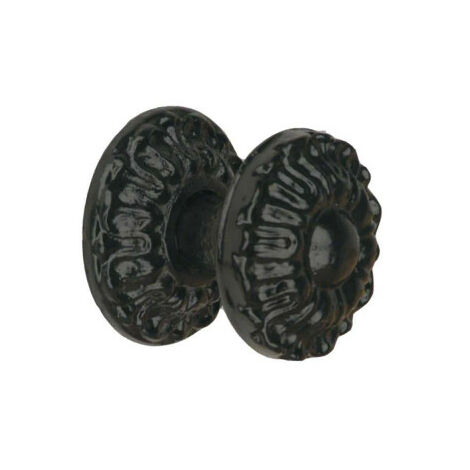 Cast iron knob - black finish