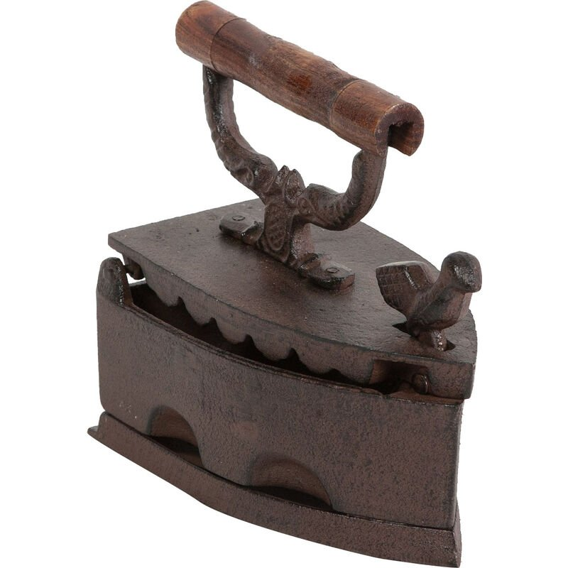 Image of Cast iron made antiqued rust finish iron shaped Made in Italy