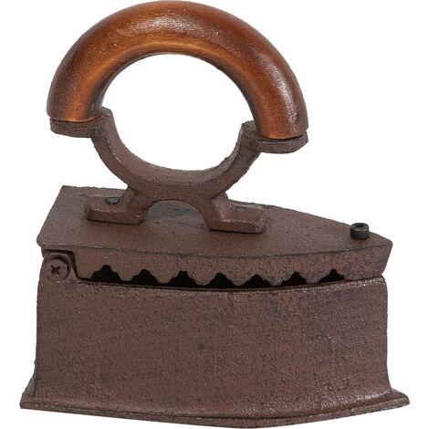 Cast iron made antiqued rust finish W13,8xDP6,3xH15,5 cm sized iron