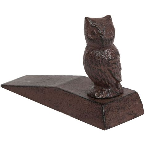 Cast iron made antiqued rust finish W14,2xDP5xH11 cm sized doorstop