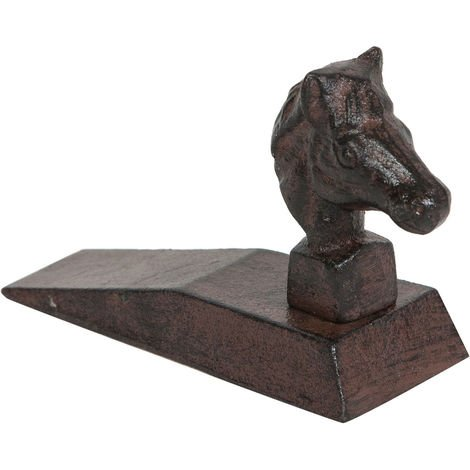 Cast iron made antiqued rust finish W14xDP5, 5xH7 cm sized doorstop