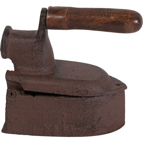 Cast iron made antiqued rust finish W14xDP6,5xH13,5 cm sized iron