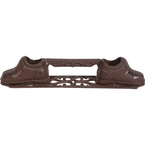 Cast iron made antiqued rust finish W42xDP9xH8 cm sized cleanshoe /doorstop