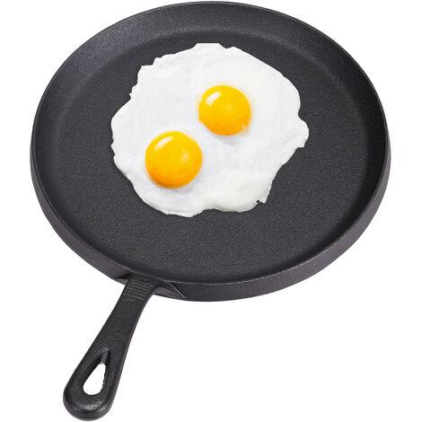 Cast Iron Non-Stick Frying Enamel Griddle Pan BBQ Grill Skillet Casserole Pot