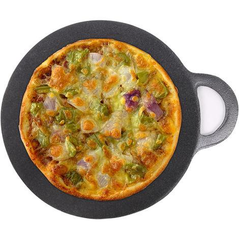 Cast Iron Pizza Pan Griddle Plate Enamel Round Pan 27cm