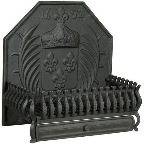 Cast iron plate brazier L60XD34XH60 CM