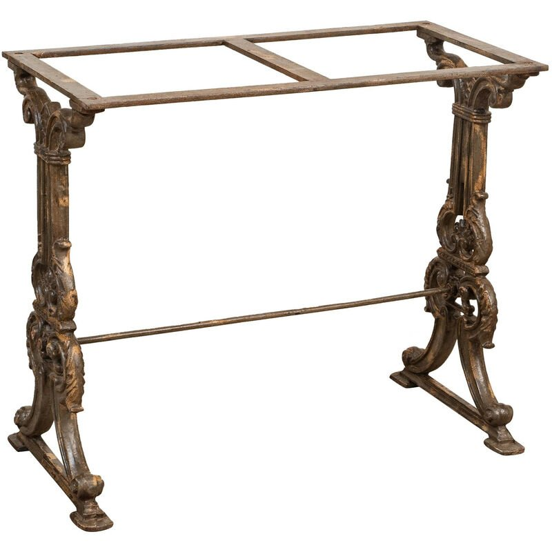 Biscottini - CAST IRON TABLE BASE WITH ANTIQUE FINISH