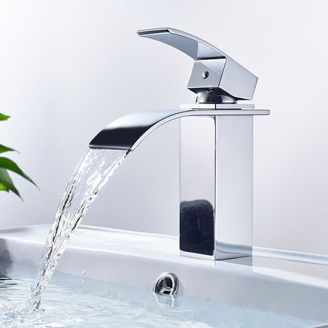 Cast Tap for Washbasin Single Lever Brass Mixer Suitable for Bathroom - Chrome
