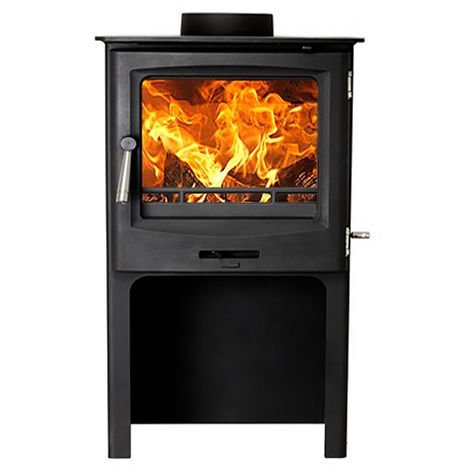 Cast Tec Horizon 5 Wood Burning / Multi Fuel Defra Approved Stove with Logstore