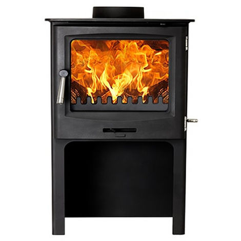 Cast Tec Horizon 7 Wood Burning / Multi Fuel Approved Stove with Logstore