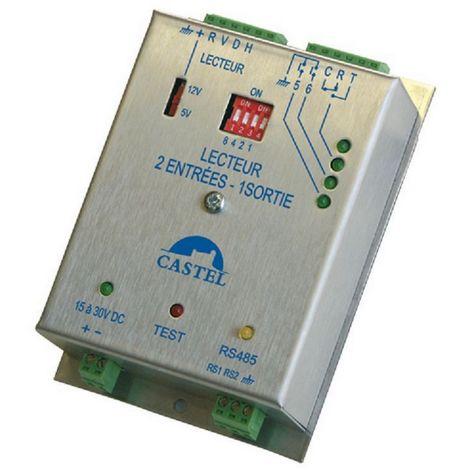 Castel 110.1200B - Geräte VDIP reader Anschlüsse 1, 2 Eingänge, 1 Ausgang