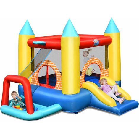 Castillo Hinchable con Tobogán y 30 Bolas para Infantil Centro de Juego de 300x280x210 cm Sin Soplador