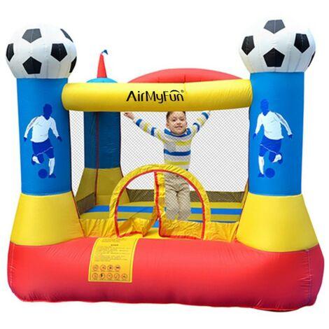 Castillo Hinchable: Football Aréna Castle - Superficie 225 x 220 x 195 cm- inflador y mochila - Multicolor